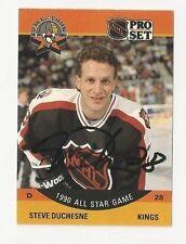 90/91 Pro Set Autographed Hockey Card Steve Duchesne Los Angeles Kings AS