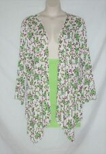 SIMPLY IRRESISTIBLE – JACKET TOP – WHITE & ROSE PRINT – SIZE 3X – NEW $36