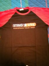 STING POLICE OFFICIAL T SHIRT EUROPEAN TOUR 2001 (USED) VERY RARE