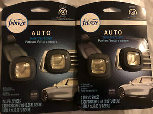 NEW Febreze Auto NEW CAR SCENT Air Freshener 4 Vent Clips! Free Fast Shipping!!