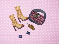 Mattel MY SCENE BARBIE DOLL Rare FASHION ACCESSORY LOT Shoes Purse Jewelry #3