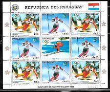PARAGUAY 1987 SPORT OLYMPIC GAMES CALGARY MINISHEET Mi 4178-9 MNH