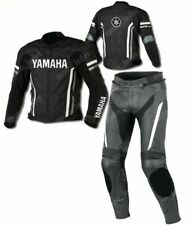 Yamaha 2PC Motorcycle Racing Leather Suit-MotoGp-CE Approved Protectors