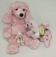 Build A Bear Plush Poodle Purse Fru Fru Mini Figure Pink White Set Lot 3 BABW