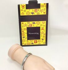 """Nomination Italy Extension Bracelet Blue Topaz Faceted Jewel  for 6"""" Wrist Size"""