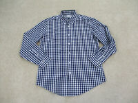 Brooks Brothers Button Up Shirt Adult Large White Blue Long Sleeve Mens B35