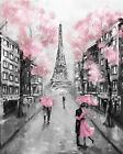 Paris Eiffel Tower Romantic Gorgeous Painting Canvas Print Home Decor Wall Art