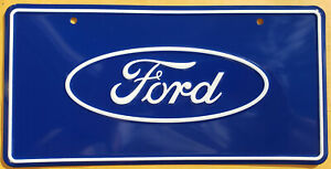 Ford Logo License Plate - SEMA, Auto Shows and Commercials FREE USA SHIPPING