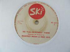 """MANFRED MANN & MIKE HUG Ski Full Of Fitness Theme/Sweet Baby Jane UK 7"""" VG+ Cond"""