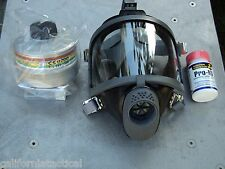 Scott/SEA Gas Mask Kit w/40mm NATO NBC-CBRN Filter & Potassium Iodide