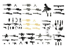 74pcs Custom Guns Lot WW2 Military Swat Police Toy Weapons for LEGO Minifigures!