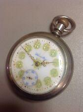 WORKS!! Vintage Hamilton 926 18s 17J Green Gold Porcelain Dial Pocket Watch