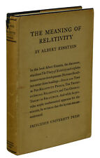 The Meaning of Relativity ~ ALBERT EINSTEIN ~ 1st US Edition ~ 1923 ~ Princeton