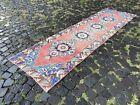 Wool rug, Bohemian rugs, Runner rug, Handmade rug, Turkish rug   2,5 x 8,9 ft