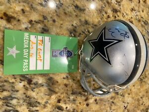 Jason Witten, Dez Bryant, Tony Romo Autographed Dallas Cowboys Mini Helmet