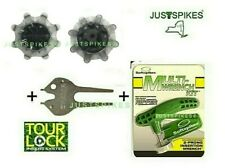 Ultimate Cleat Kit w/ 20 Gray Pulsar Tour Lock Golf Spikes Justspikes