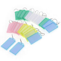 25Pcs Multicolor Plastic Key ID Label Tags w 2cm Dia Ring Keyring C5D1
