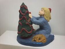 Painted Austin Productions Bright Eyes Chirstmas Girl Sculpture Statue D Crowley