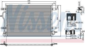A/C Condenser  Nissens North America  94583