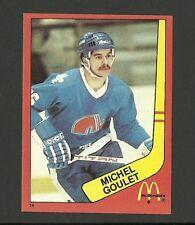 Michel Goulet Quebec Nordiques #14 1982-83 McDonald's Hockey Sticker NM/M