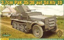 Ace 1/72 3.7cm PaK 35/36 auf Sd.Kfz. 10 # 72281