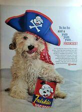 Lot of 3 Vintage Friskies Dog Food Print Ads Yo Ho Ho Yum Yum Yumm