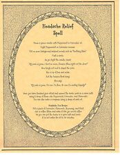 Book of Shadows Spell Pages ** Headache Relief Spell ** Wicca Witchcraft BOS