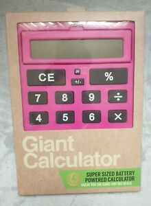 Giant Pink calculator big buttons