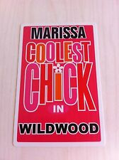 MARISSA Coolest Chick In Wildwood New Jersey Personalized Wall Door Sign NJ N.J