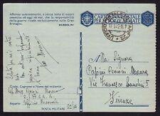 POSTA MILITARE 1942 Franchigia da PM 22 a Firenze (FM8)