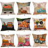 Halloween Pillow Cases  Linen Sofa Pumpkin ghosts Cushion Cover Home Decor