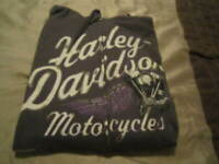 HARLEY DAVIDSON MOTORCYCLES ORLANDO FL. LADIES GRAY ZIP UP HOODIE  LARGE..