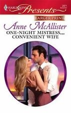 One-Night Mistress...Convenient Wife (Harlequin Larger Print Presents)