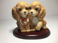Homco Mizuno Masterpiece Porcelain Collection Cocker Spaniel Pair Vintage 1988