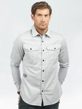 G-Star Men's Collared Long Sleeve Fitted Casual Shirts & Tops