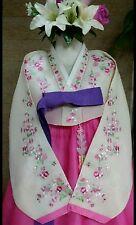 Korean Hanbok Traditional Costume Dress Set/ Women / 2pcs-L / 163cm/ST.WYP1