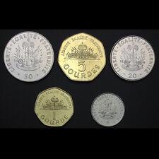 Haiti Set 5 Coins, 5 20 50 Centimes+ 1 5 Gourdes, 1995-2011, UNC