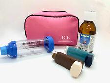 ICE Medical Pink Inhaler Medication Bag - Epipen, Spacer, Travel or Home