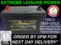 !12V 130AH 130 AH Leisure Battery DEEP CYCLE for Motorhome / Caravan / Campervan