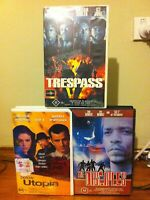 ICE T 3 VHS cassette tape pack Rap The Disciples Below Utopia Trespass Ice Cube
