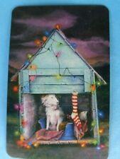 BLANK BACK ,  MODERN  , CUTE  DOG      ;   SWAP  CARD