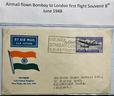 1948 Bombay India First Flight Cover FFC To Maidenhead England
