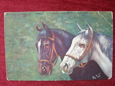 ANIMALS / HORSE - SIGNED POSTACRD / 1922