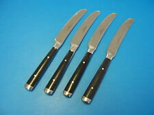 "Hampton Silversmiths Stainless Flatware ""CAFE"" Dinner Knives ( Black) FREE SHIP"