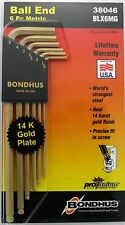 1.5-5mm Long Arm Hex Ball End L-Wrenches 6pc Set w/GoldGuard™ Bondhus USA #38046