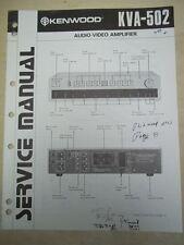 Kenwood Service/Repair Manual~KVA-502 Audio-Video Amplifier~Original