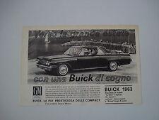 advertising Pubblicità 1963 BUICK