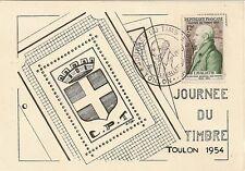 CP JOURNEE DU TIMBRE 1954 TOULON