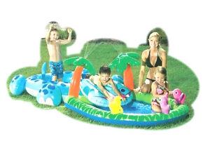 WATERFALL~SWIM PARK~INFLATABLE POOL~KID~PLAY CENTER~SLIP SLIDE SPLASH~COCO HIPPO