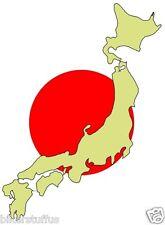 JAPAN MAP HELMET STICKER TOOL BOX STICKER BUMPER STICKER HARD HAT STICKER